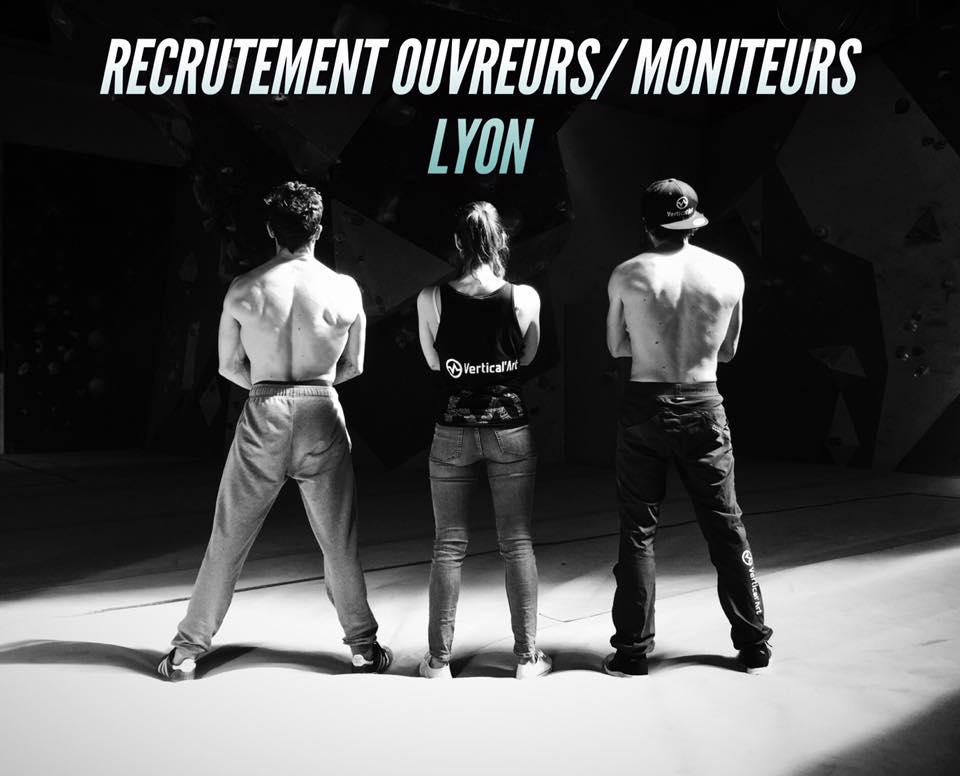 recrutement à vertical'art / ouvreur / moniteur d'escalade de bloc / salle d'escalade / restaurant / bac / sport / LYON