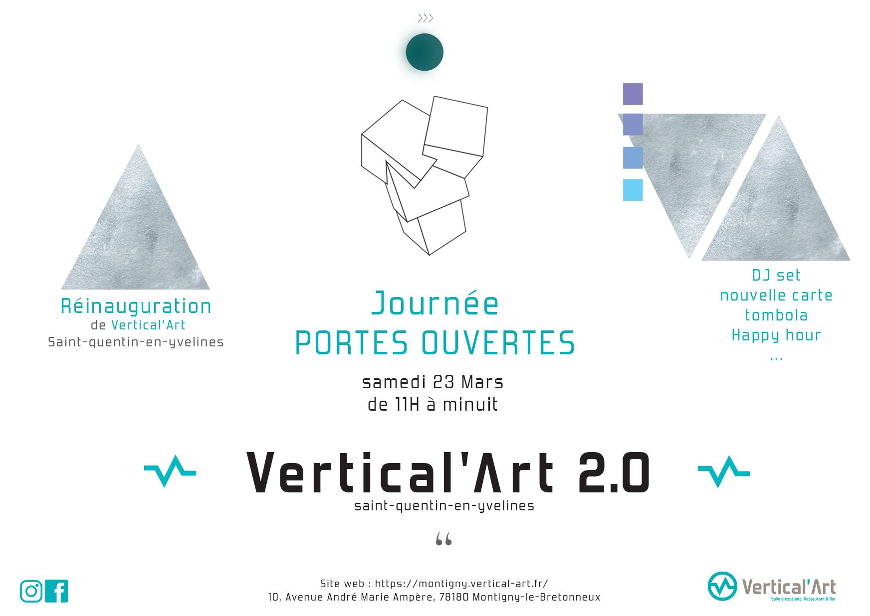Vertical'Art 2.0 / Journée portes ouvertes / saint quentin en yvelines / DJ set, tombola, réinauguration