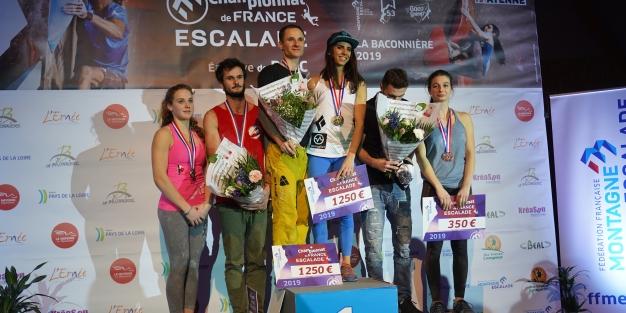 résultat des CHAMPIONNATS DE FRANCE DE BLOC 2019! première place remporté par notre athlète Fanny Gibert membre du team vertical'art
