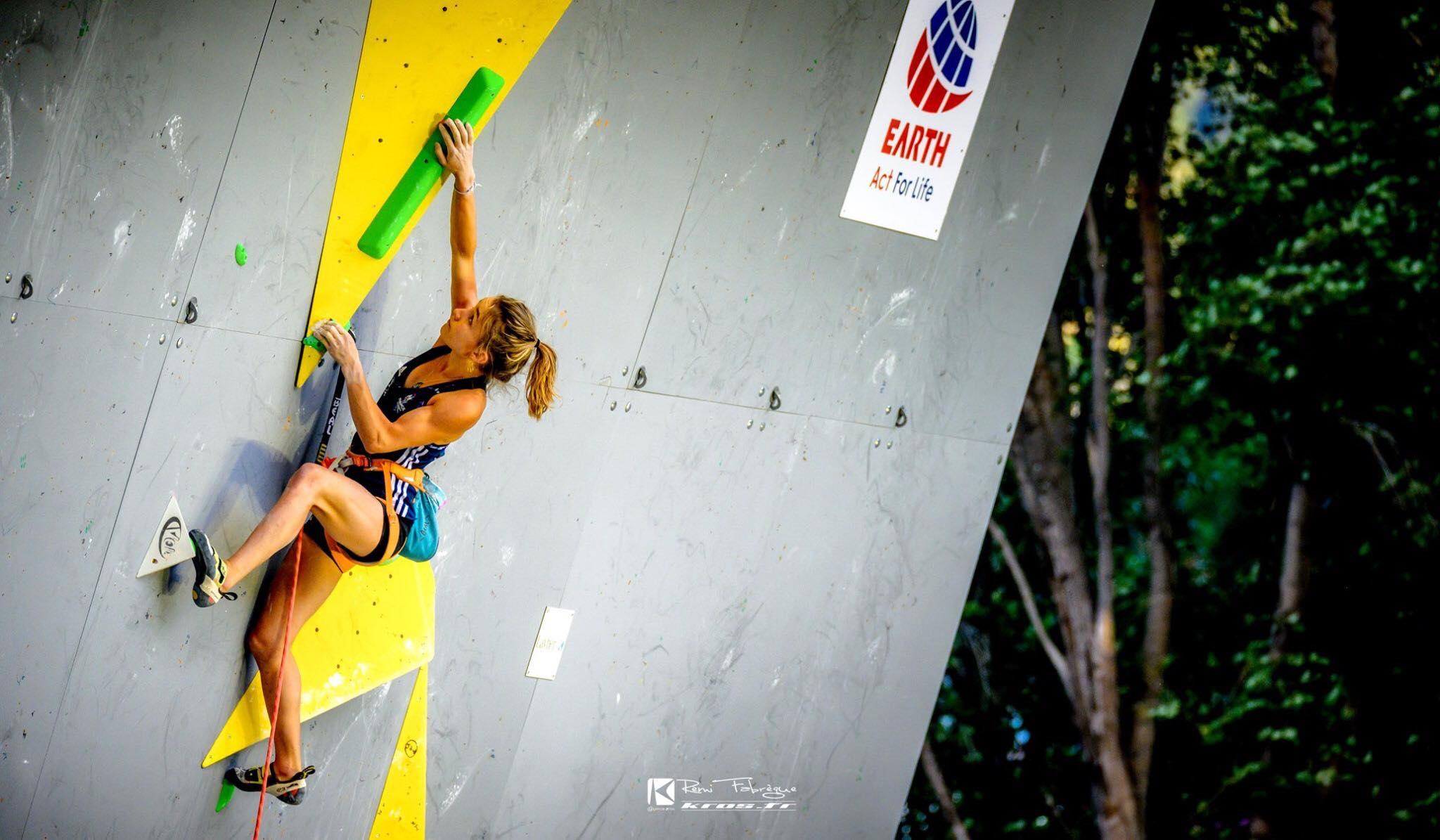 Nolwenn ARC- escalade de difficulté - vertical'art- championnat d'europe d'escalade de difficulté et de vitesse 2019 de VORONEZH (russie) - earth