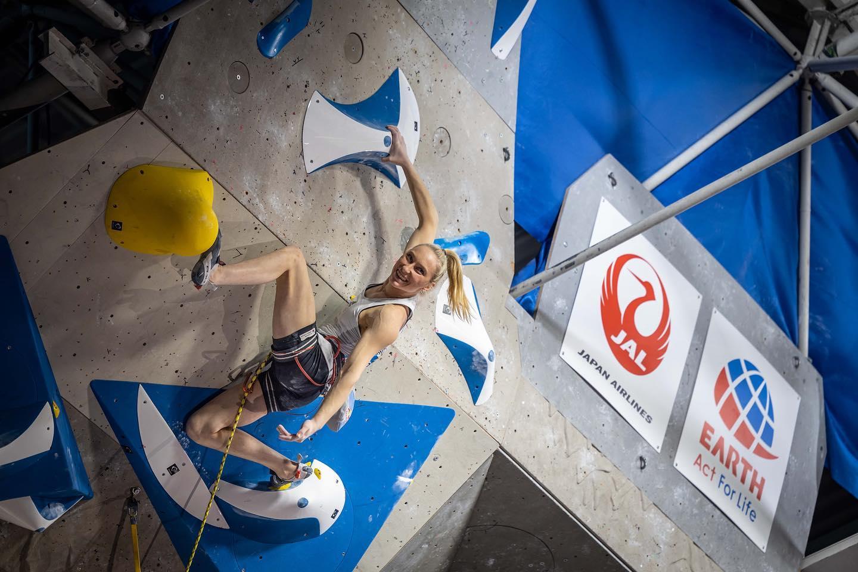 Janja Garnbret indétrônable à la Coupe du monde de difficulté de Kranj (Slovénie), la grimpeuse du team VA Nolwenn Arc s'offre la 16ème place, meilleur résultat français dans cette compétition